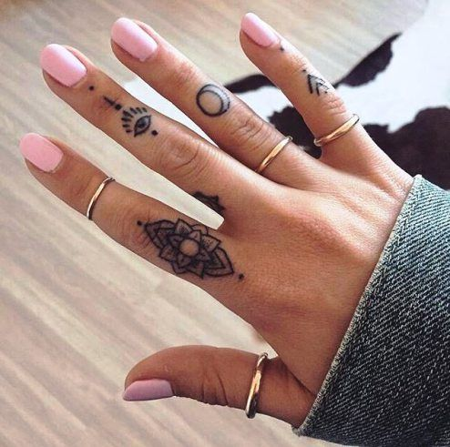 5a6d172a4 33 Small & Meaningful Finger Tattoos Ideas | tattoos | Finger ...