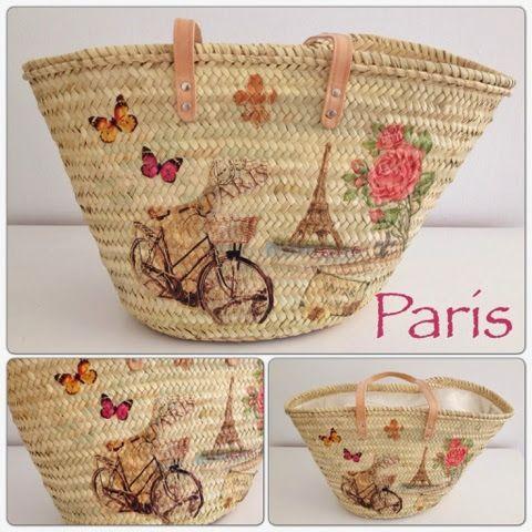 Manualidades patchword mu ecos de tela capazos bolsos de palma hecho a mano bolsos hechos - Bolsos de tela hechos en casa ...