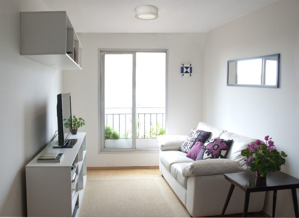 Decora o de sala pequena tend ncias 2017 simples barata - Decorar interiores de casas pequenas ...