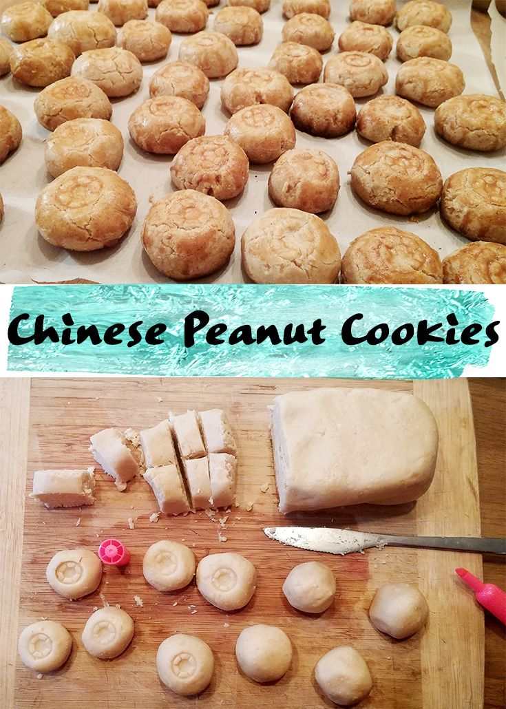 Chinese peanut cookies More #ChineseNewYear treats! Today marks the beginning of the Spring Festival as we welcome the #rooster What better way to celebrate than with these addictive #Chinese #Peanut #Cookies.  #Recipe here http://cultureatz.com/hua-sheng-bing-chinese-peanut-cookies/