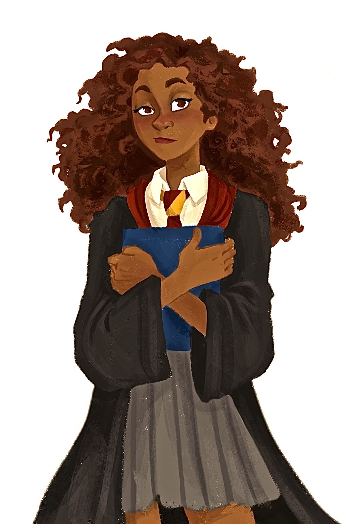 quinnasaurus-creations:  Little Hermione line-less art based off of Burdge's Hermione (because I think she has the best design for her)