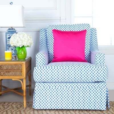 Blue Spotted Print Quinn Club Chair | Home Chic Home | Pinterest ...