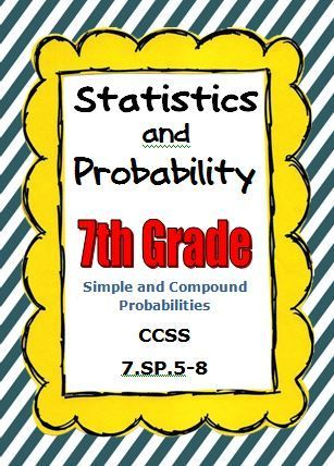 Common Core Math 7th Grade Statistics and Probability CCSS 7