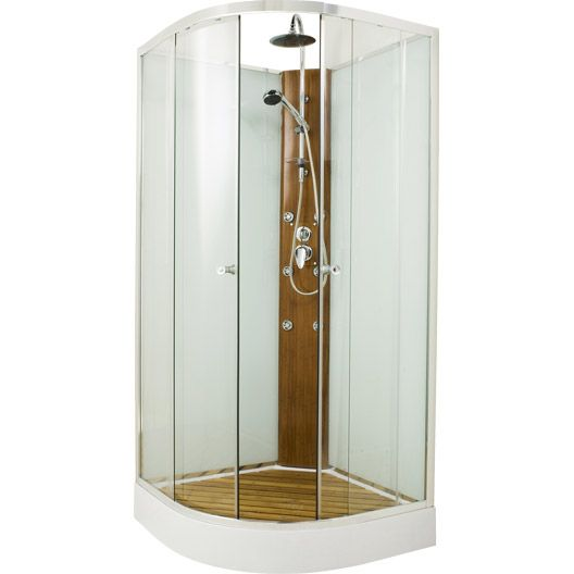 cabine de douche lemon hydromassante mitigeur 1 4 de cercle 90x90cm salledebains magasin. Black Bedroom Furniture Sets. Home Design Ideas