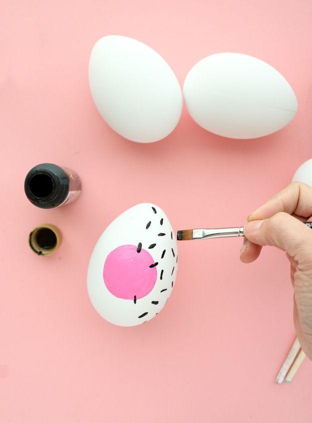 DIY Pastel Memphis Easter Eggs - A Kailo Chic Life