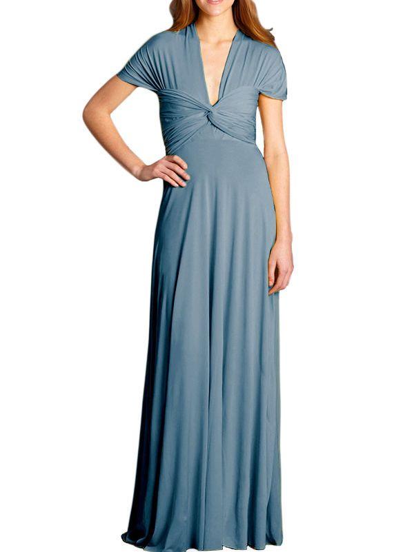 0f6f0efe3d VON VONNI Women s Denim Blue Transformer Dress Long One Size VVL101  120   VonVonni  Multi