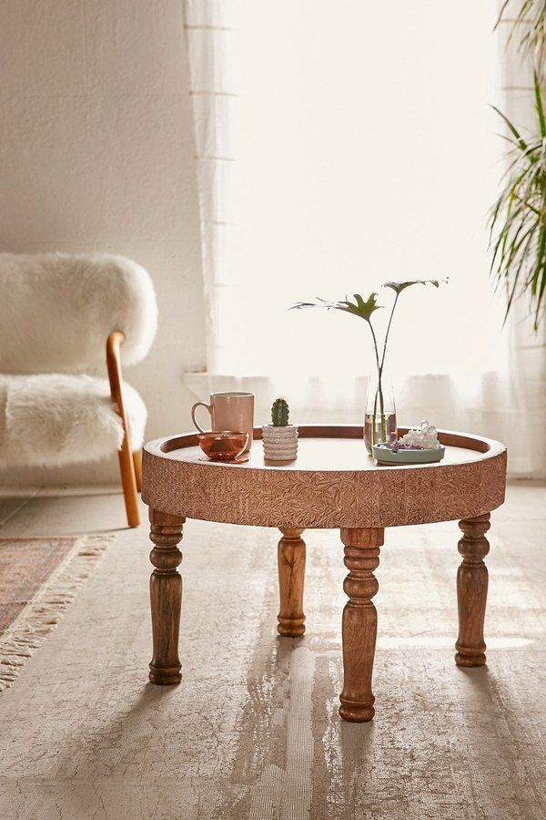 Hope Round Coffee Table Full Of Vintage Boho Charm This