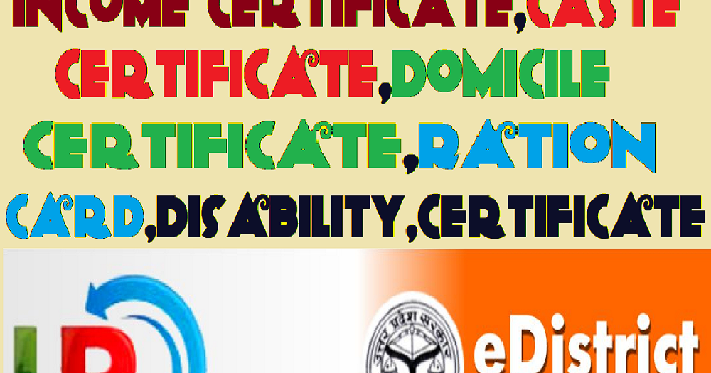 Income Certificatecaste Certificatedomicile Certificateration Carddisability Certificate Online Apply Process Step Certificates Online Ration Card Aadhar Card