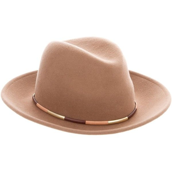 16e5ddac8 Pre-owned Eugenia Kim Wool Leather-Trimmed Hat (435 ILS) ❤ liked on ...