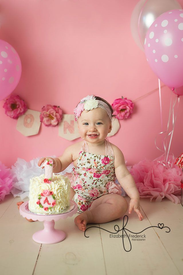 Spring Fl Flower Pink White Red Smash Cake Photography Session Ct Photographer