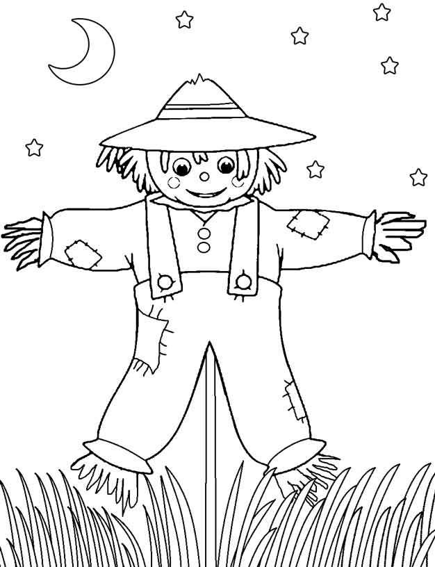Espantapajaros Para Imprimir Y Pintar Coloring Pages For Kids Fall Coloring Pages Halloween Coloring Pages
