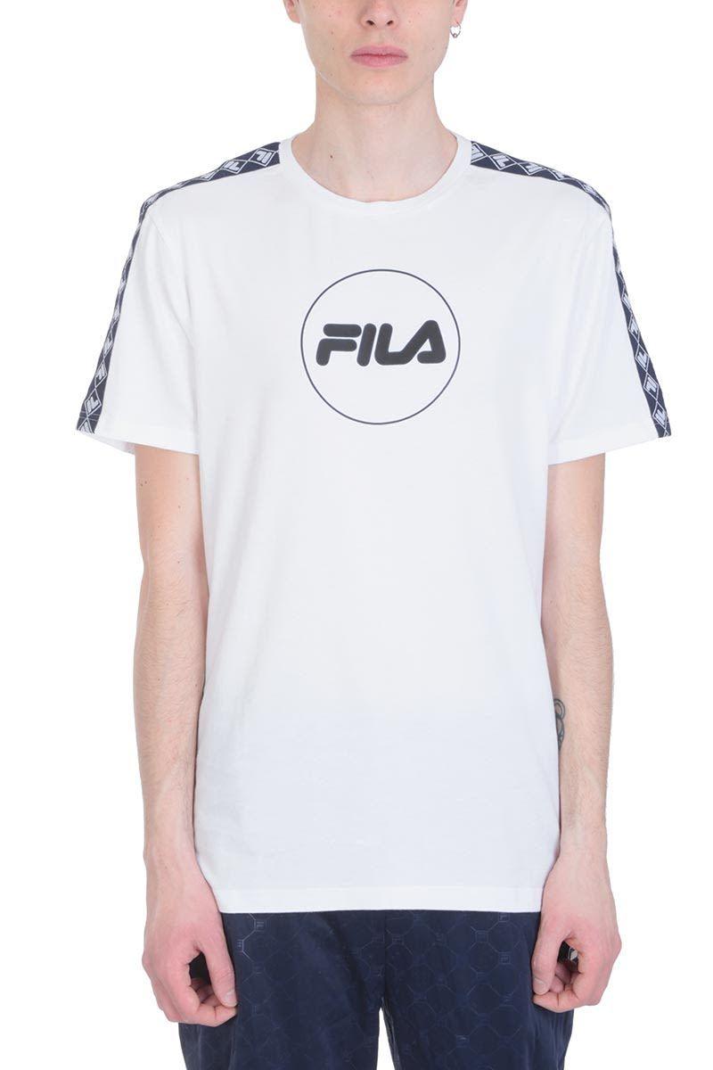 6f3b89de7bd FILA WHITE COTTON RUDY T-SHIRT. #fila #cloth   Fila in 2019   Shirts ...