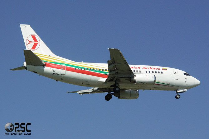 LITHUANIAN AIRLINES  LY-AGZ B737-524 26340/2777 FlyLAL - Lithuanian Airlines