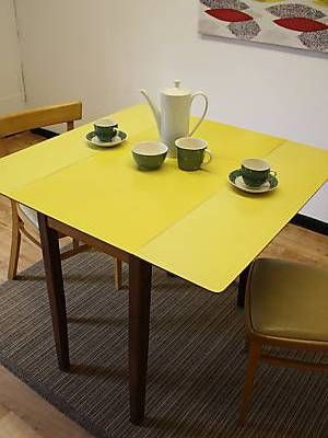 yellow formica table on vintage design seeur regarding formica dining table ideas - Formica Kitchen Table