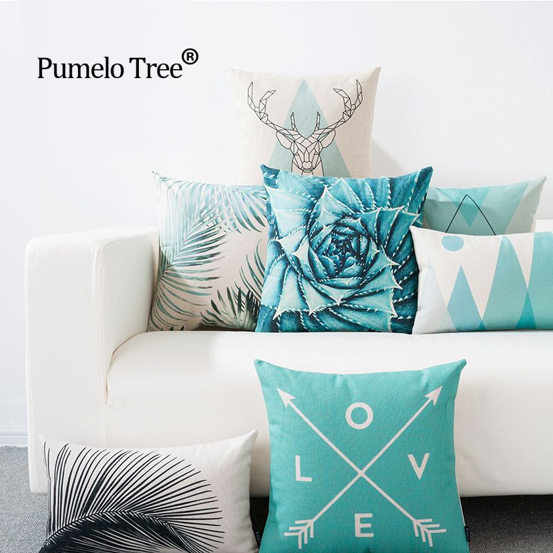 Rectangle Cushion Cover Geometry Pillow