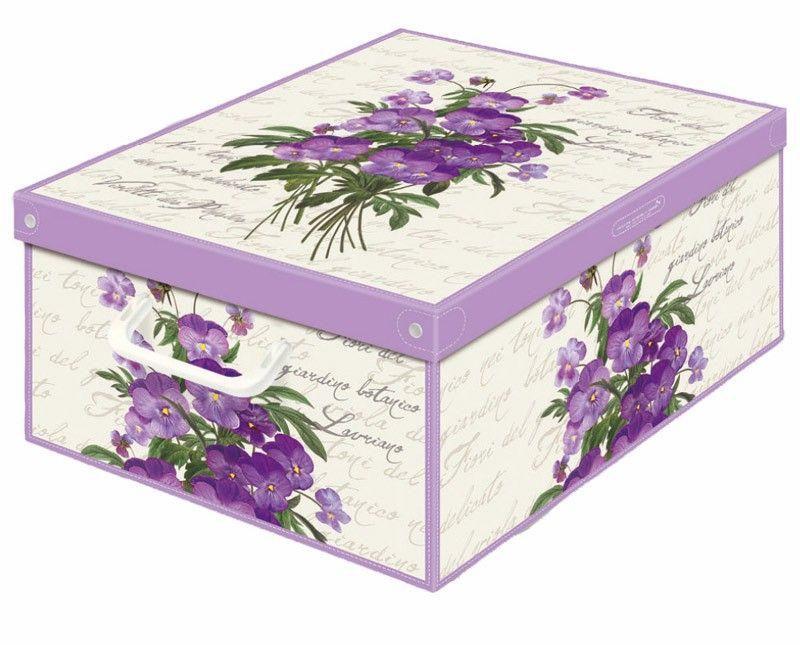 Boite de rangement carton parfumé décor floral violette | Boites de ...