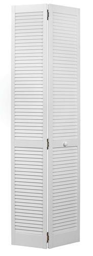 Designer S Image 24 X 80 Prefinished White Full Louvered 2 Leaf Bifold Door At Menards Designer Image Bifold Doors Design