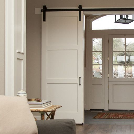 The 3 Panel Barn Door Is A Contemporary Twist On The Classic 5 Panel Barn Door Perfect For Any Home Decor Remodel Bedroom Barn Doors Sliding White Barn Door