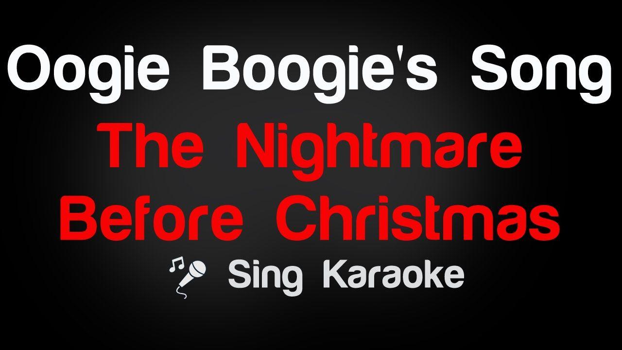 The Nightmare Before Christmas - Oogie Boogie\'s Song Karaoke Lyrics ...