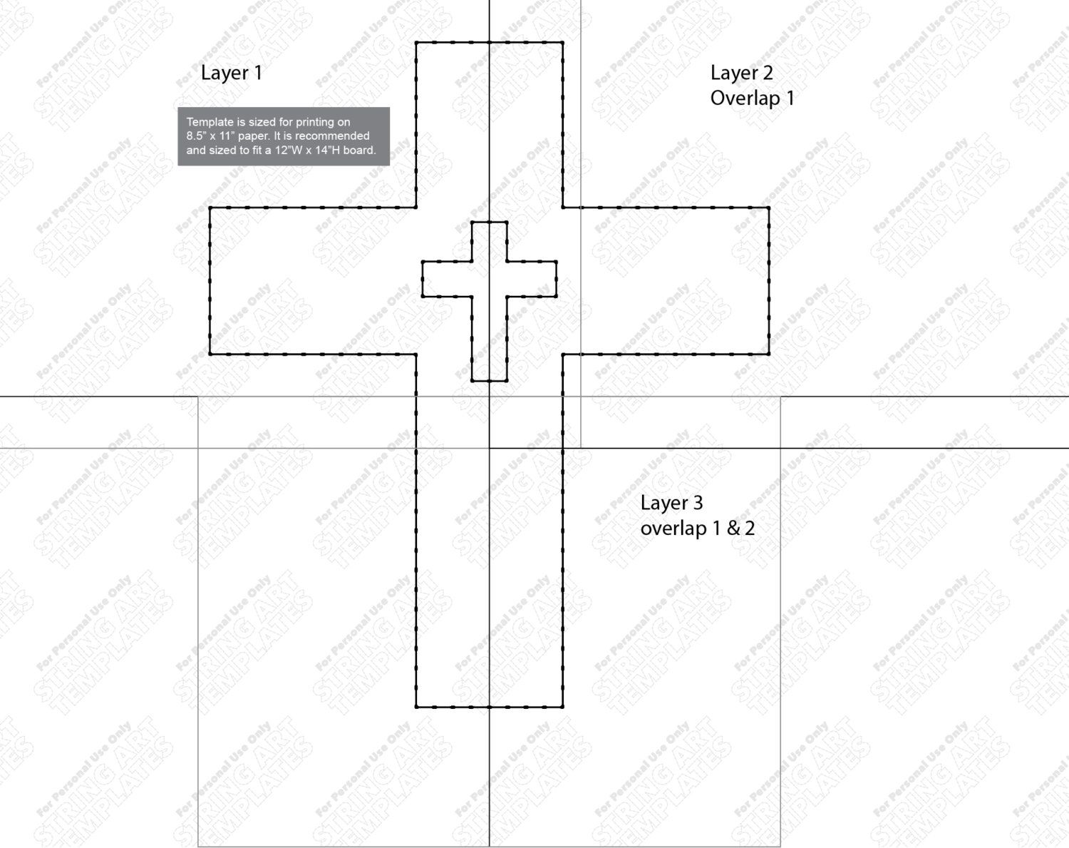 Cross - String Art Template | String art templates, String art and ...