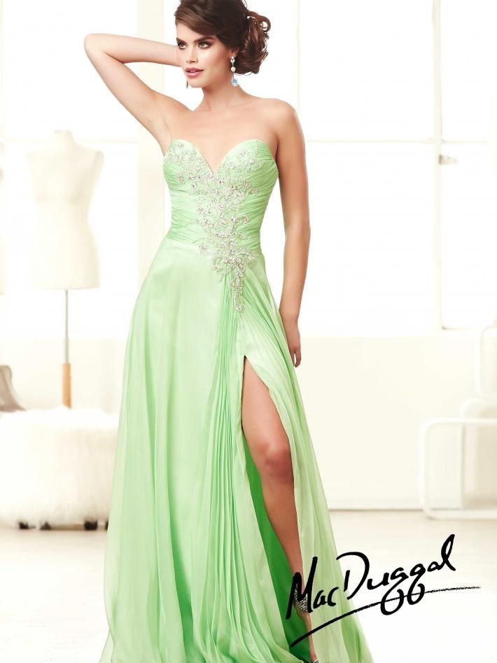 2ebe2773762 Key Lime Prom Dress