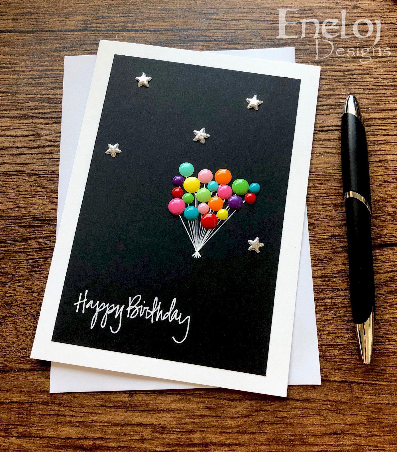 Birthday Card Handmade Birthday Greeting Card Blank Card Etsy Birthday Card Craft Simple Birthday Cards Handmade Birthday Cards