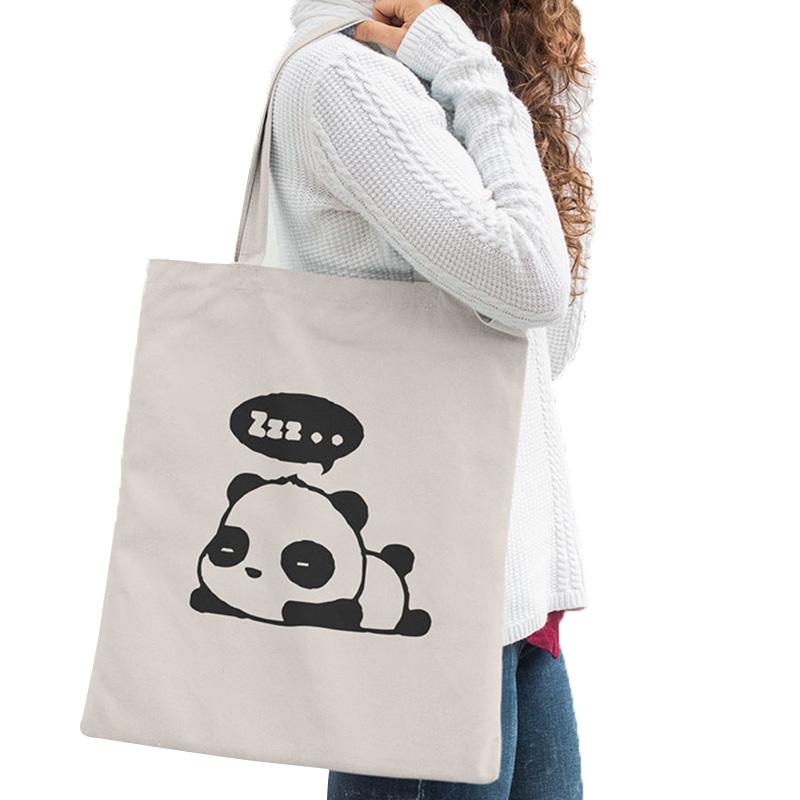 Cute Panda Canvas Bag Kawaii Anime