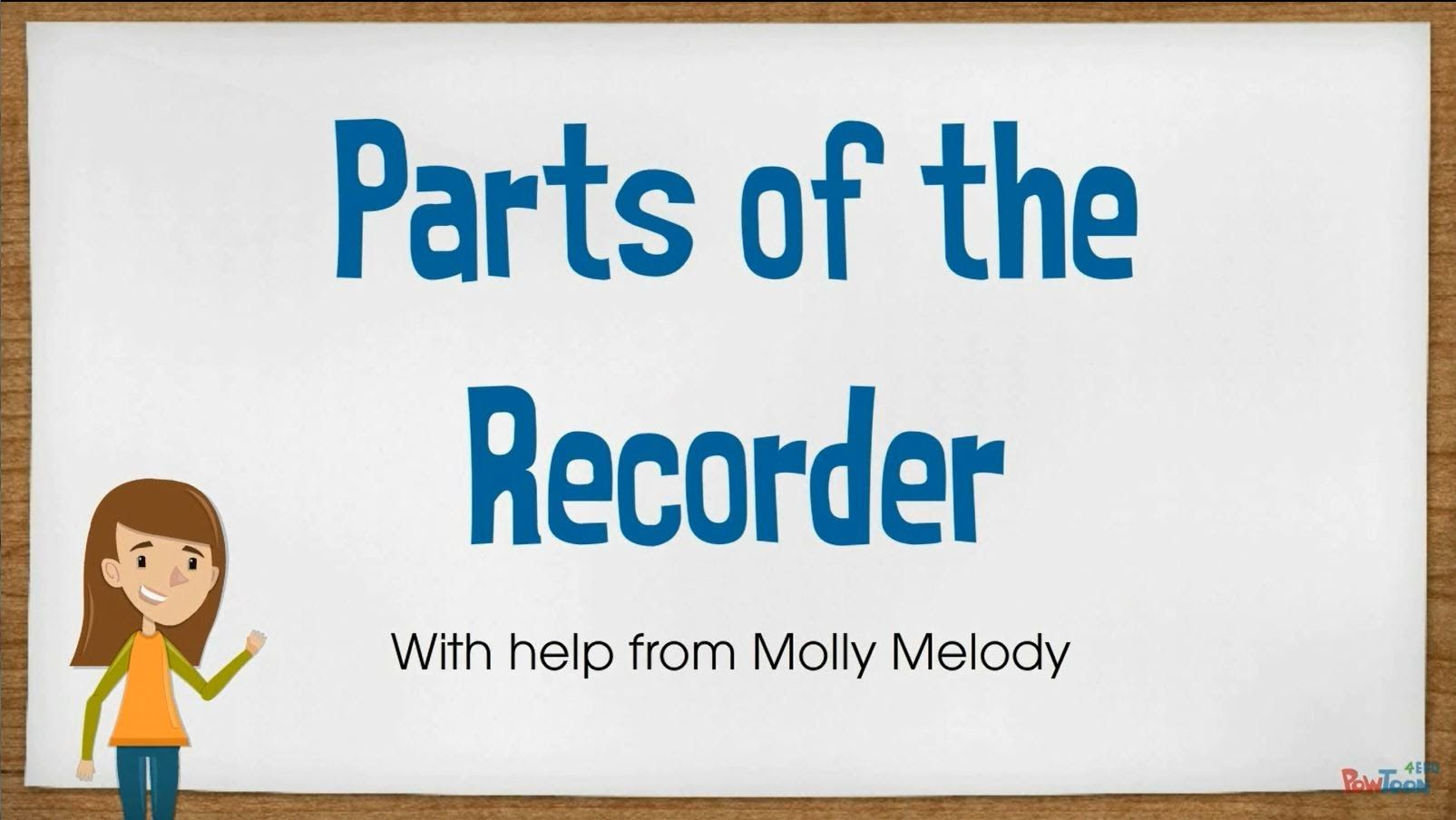 A Really Cute Video That Explains Parts Of The Recorder