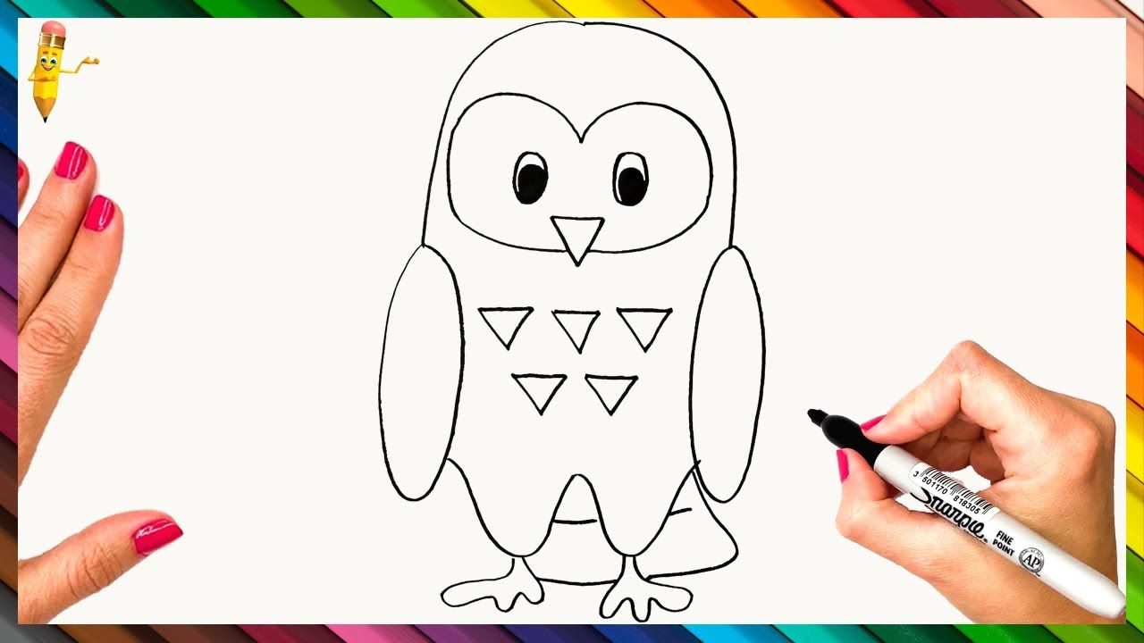 How To Draw An Owl Step By Step Owl Drawing Easy Owls Drawing Owl Drawing Simple Bird Drawings