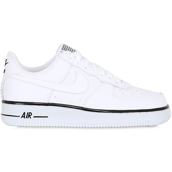 Nike Men Air Force 1 Faux Leather Sneakers ($130) ❤ liked on Polyvore  featuring