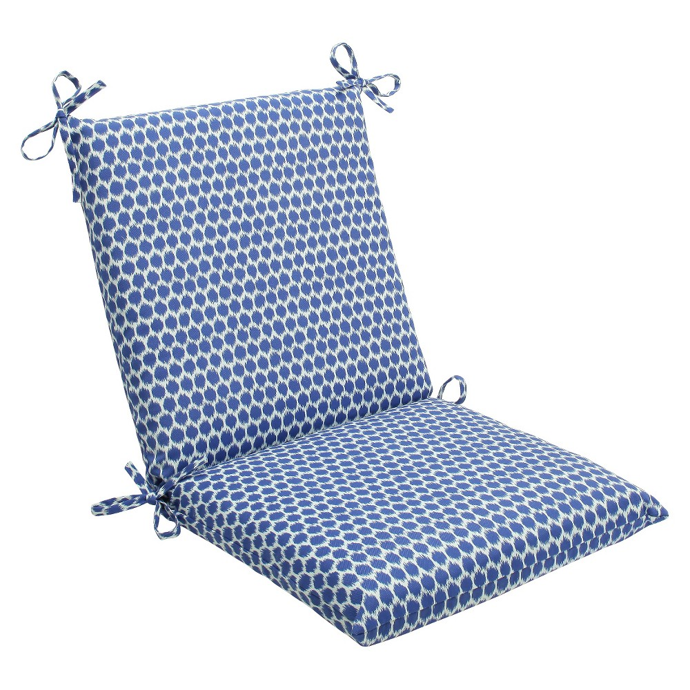 Outdoor seat pillow perfect square pc cushion dot blueoffwhite
