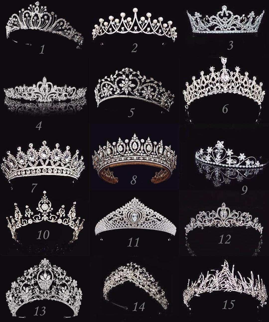 "The Catwalk Latinoamerica on Instagram: ""Elige tu #tiara de 1 a 15 cuál usarías tú?"