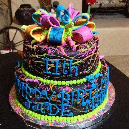 Paint splatter cake