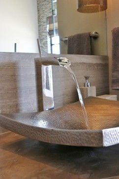 Hill Country Modern Contemporary Master Bathroom San Antonio - Bathroom sinks san antonio