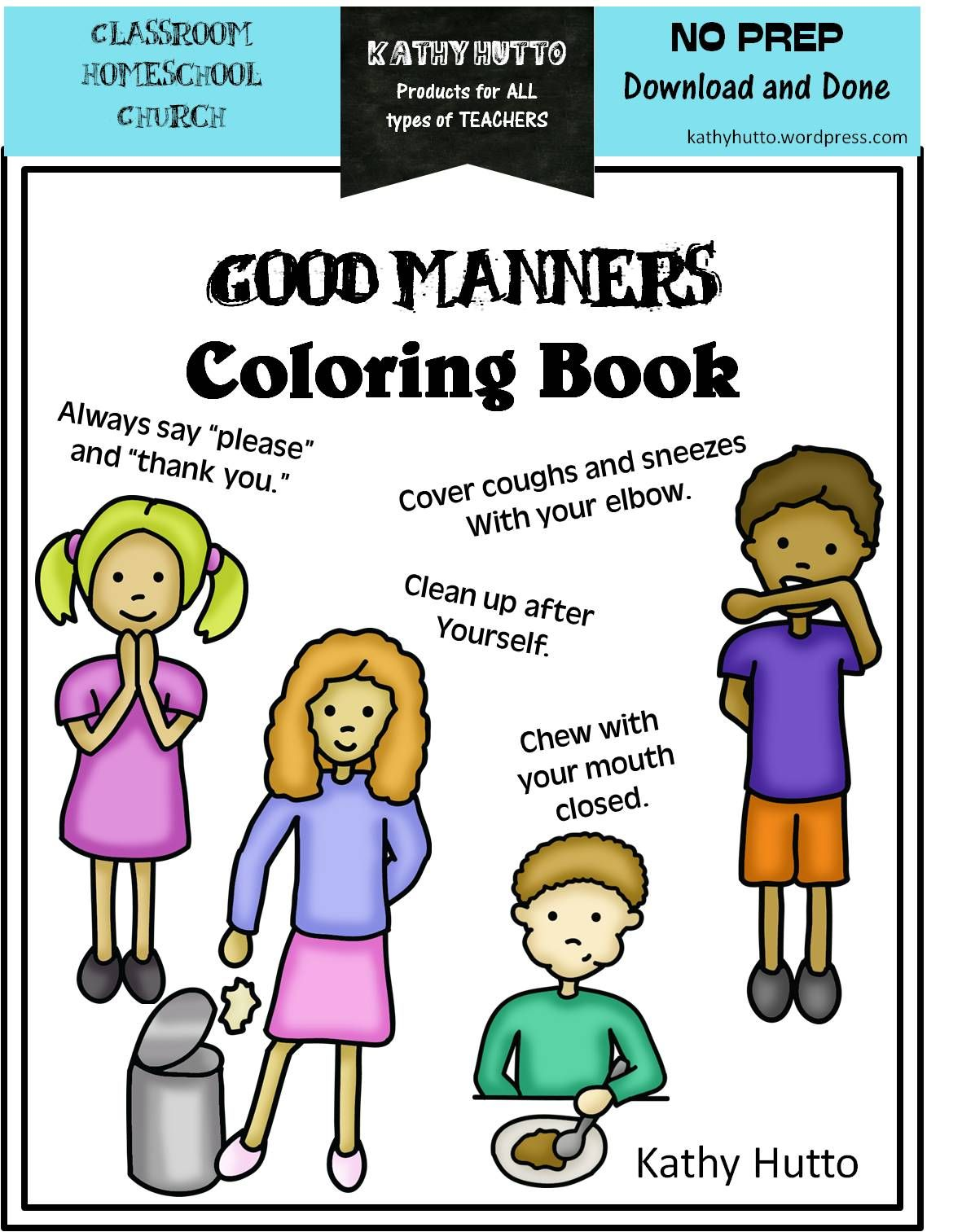 Free Manners Coloring Book