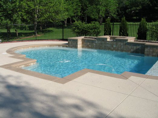 Image Result For Cement Pool Deck Ideas