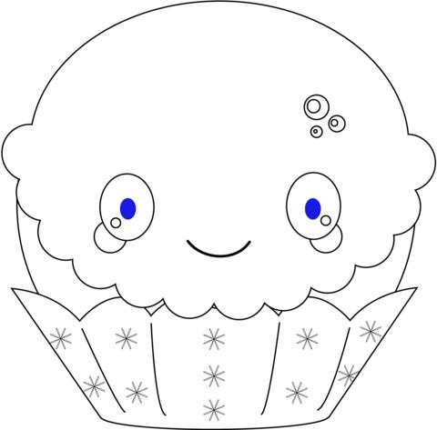 Kawaii Christmas Cupcake Coloring Page In 2020 Kawaii Christmas Christmas Coloring Books Coloring Pages