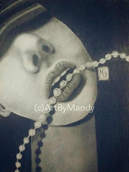 """String of Pearls"" by Mandy Sowell Graphite~ 11"" x 8.5"""