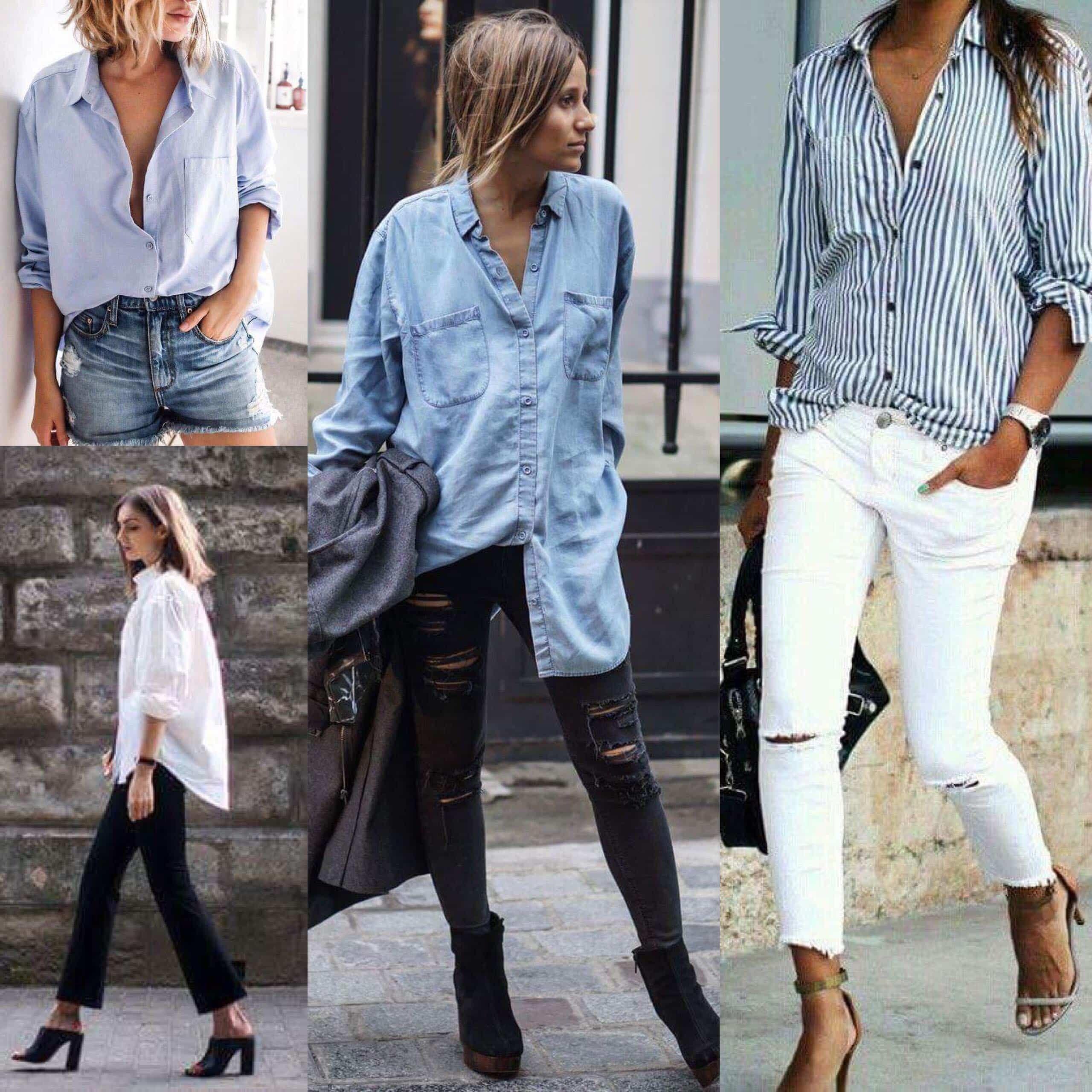 Looks femininos com camisa masculina | Looks femininos, Moda