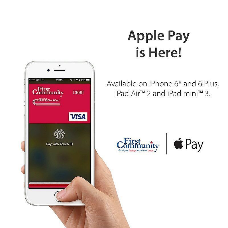 Apple Pay Is Now Available For Your First Community Credit