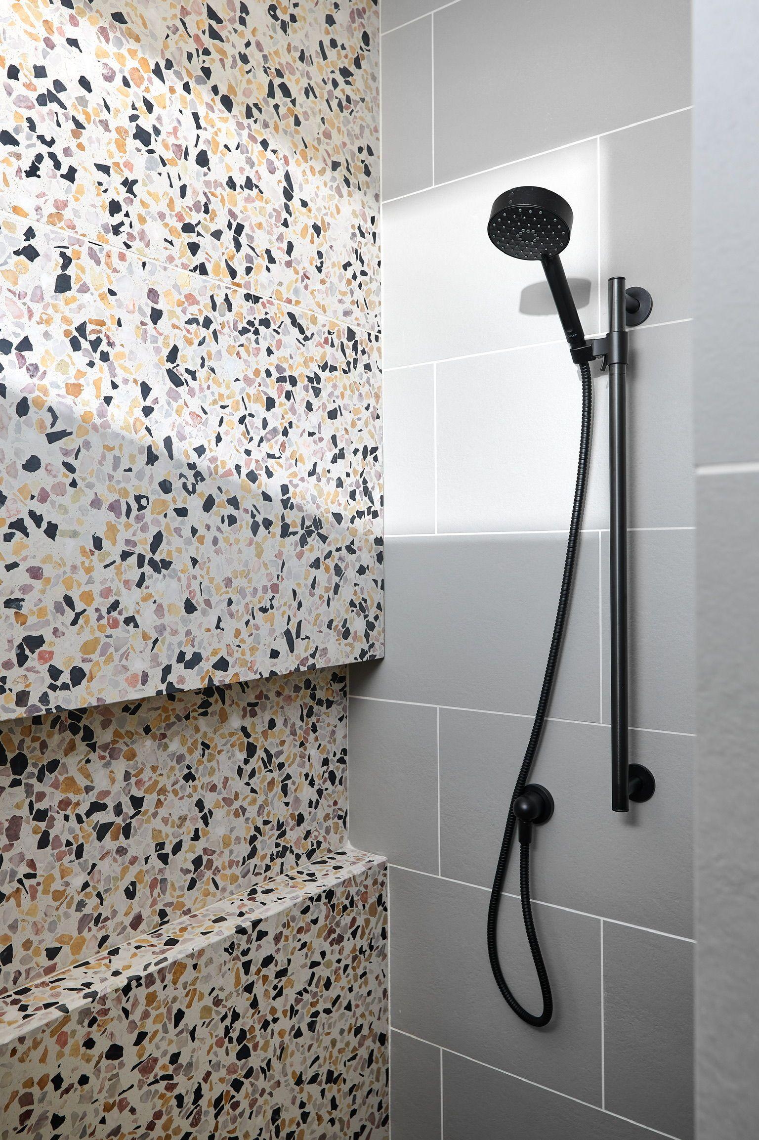 Terrazzo Shower Modern In 2020 Bathroom Design Decor Modern Shower Tile Style Tile