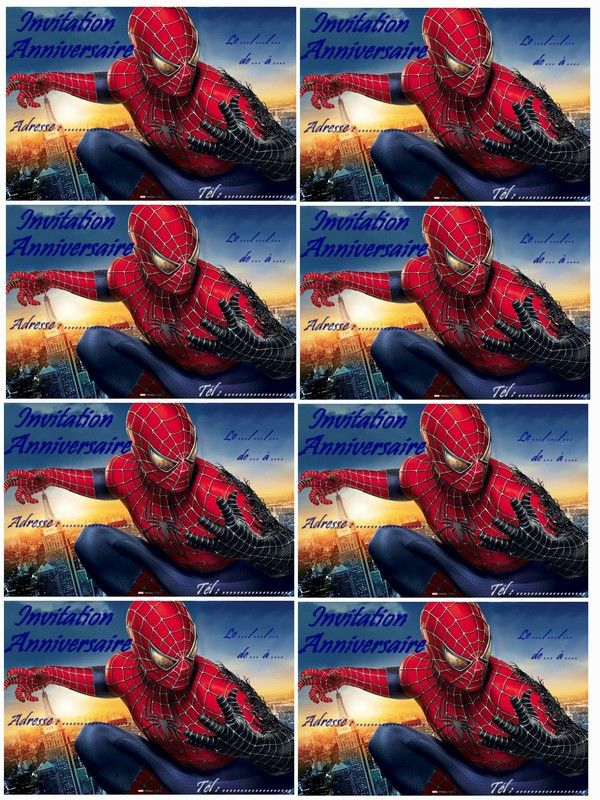 Carte D'invitation Anniversaire Spiderman Fresh Carte Anniversaire Spiderman A Imprimer