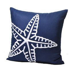 blue & coral accent pillows | Starfish Pillow Cover - Coastal Pillow Cover - These throw pillow ...