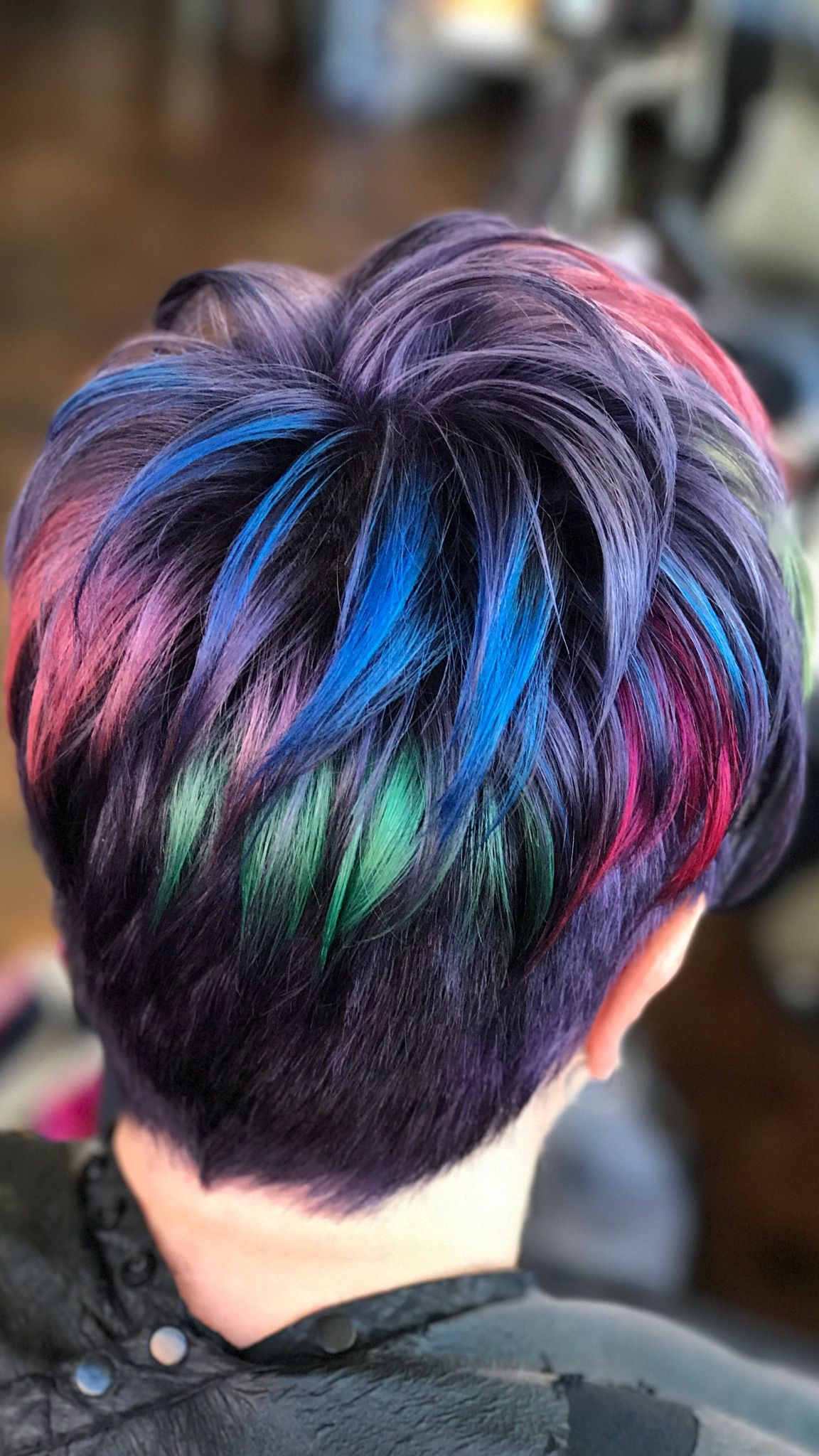 Rainbow Pixie Haircut Created With Pulp Riot Color My Hairstyles