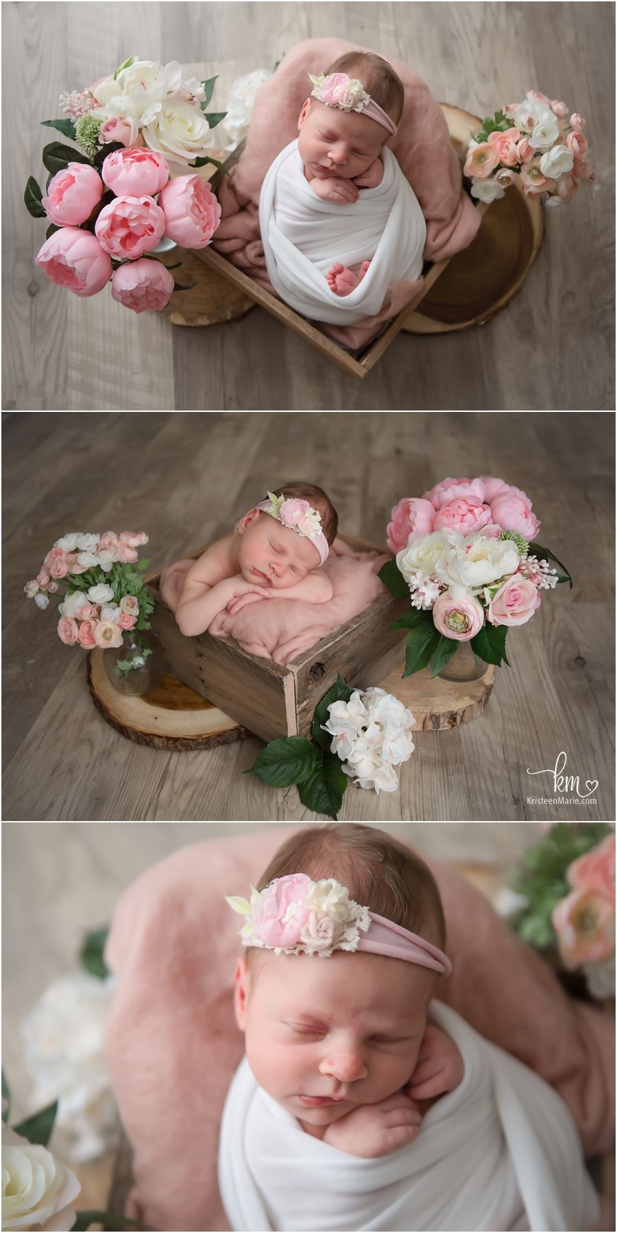 Indianapolis newborn photogrpahy with flowers newborn baby photos newborn shoot newborn poses newborn