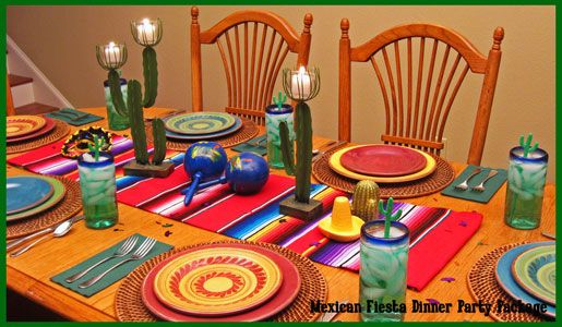 Mexican Centerpiece Dinner Party Decorations Party
