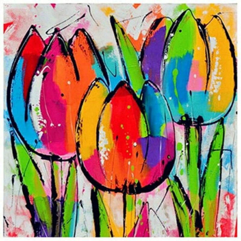 Schilderij I 2020 Malerier Blomster Billeder