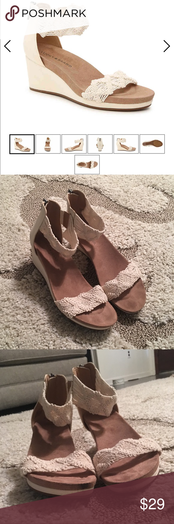 48e52a43a301 Spotted while shopping on Poshmark  Lucky Brand LP Kaydyn Wedge!  poshmark   fashion  shopping  style  Lucky Brand  Shoes