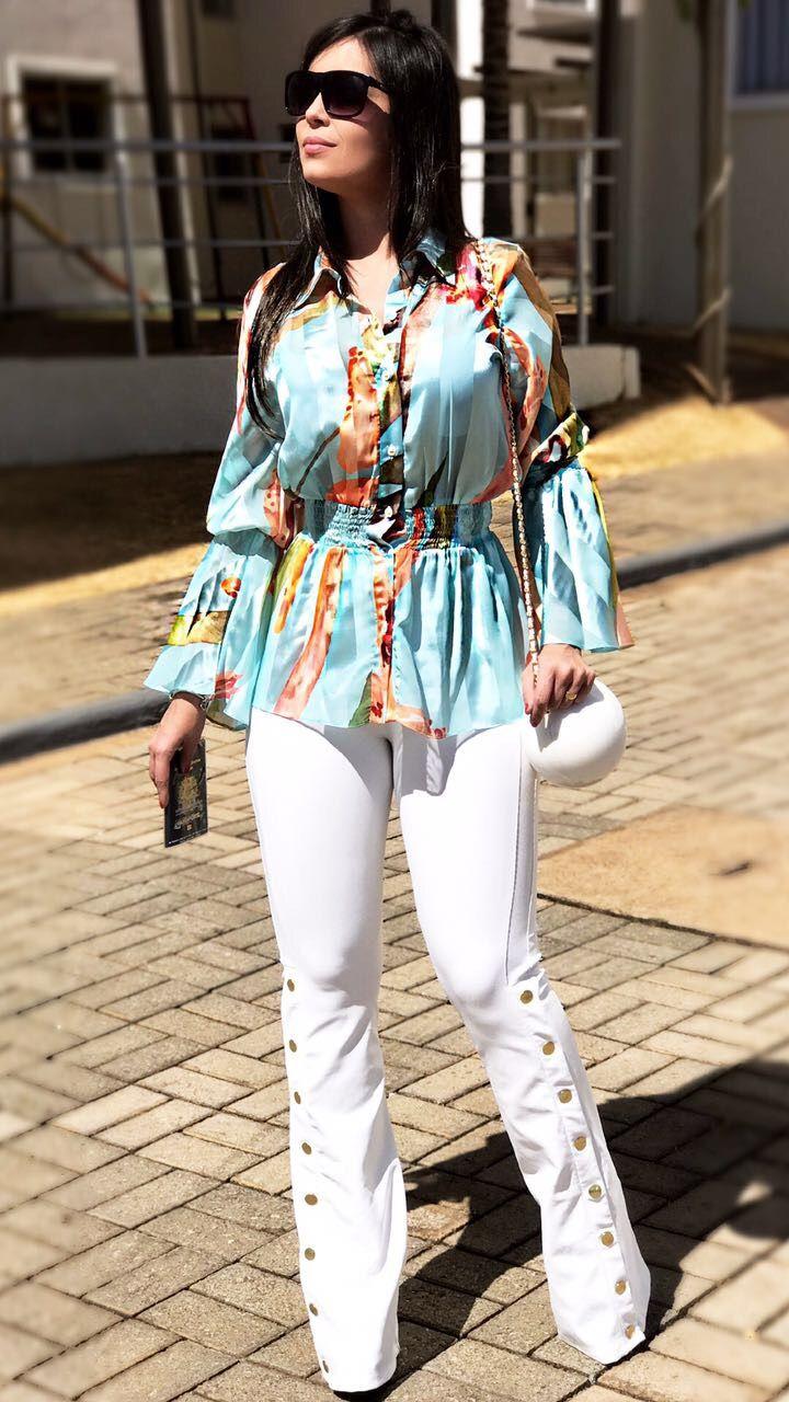 33be47109 Pin de Carla Sabóia em Carla Saboia | White jeans, Jeans e Pants