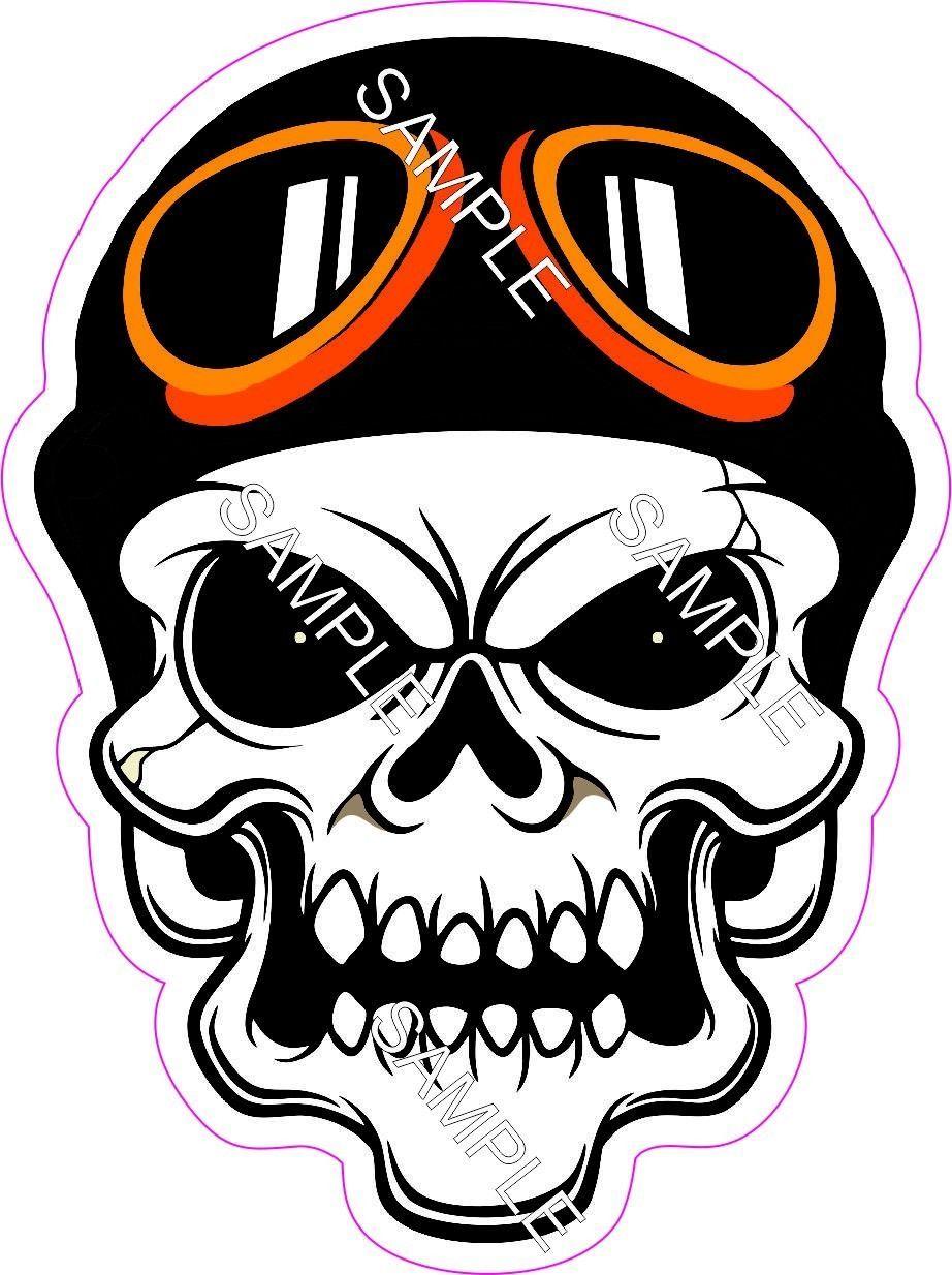 3 99 skull tattoo motorcycle helmet goggles vinyl sticker decal ebay home garden